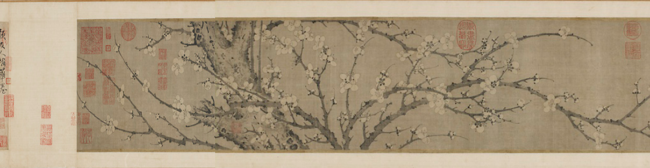 Fig.2 – Yansou, Ink Plum Blossoms, Section 1