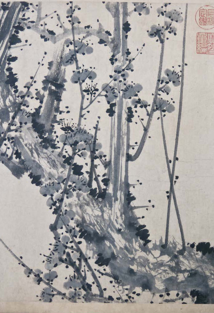 Painting: Fig. 12 – Detail of Zou Fulei's, <em>A Breath of Spring</em>