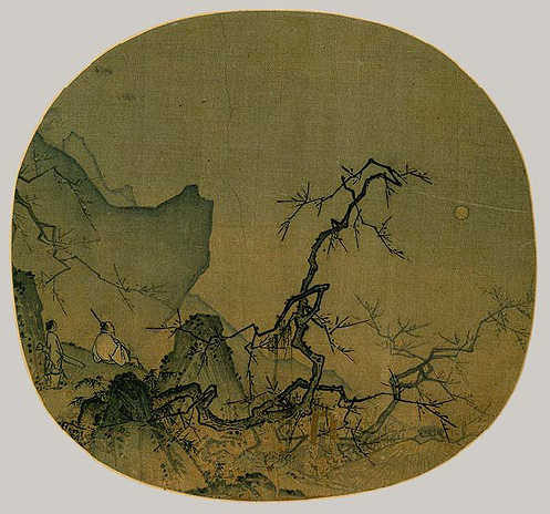 Ma Yuan's: Viewing Plum Blossom by Moonlight